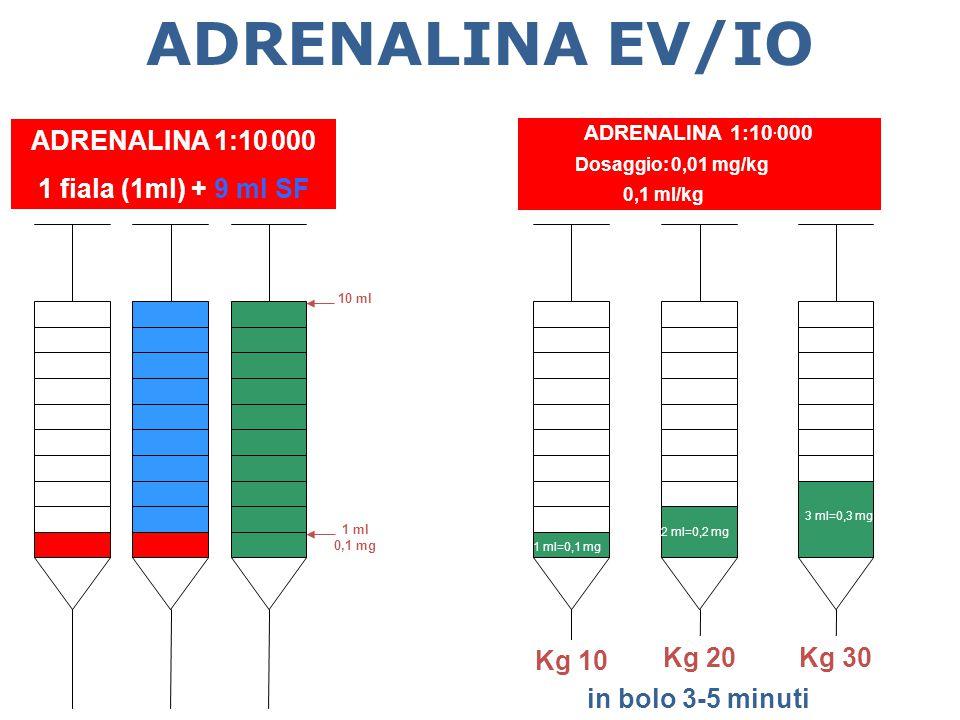 ADRENALINA EV/IO ADRENALINA 1:10.000 1 fiala (1ml) + 9 ml SF Kg 10