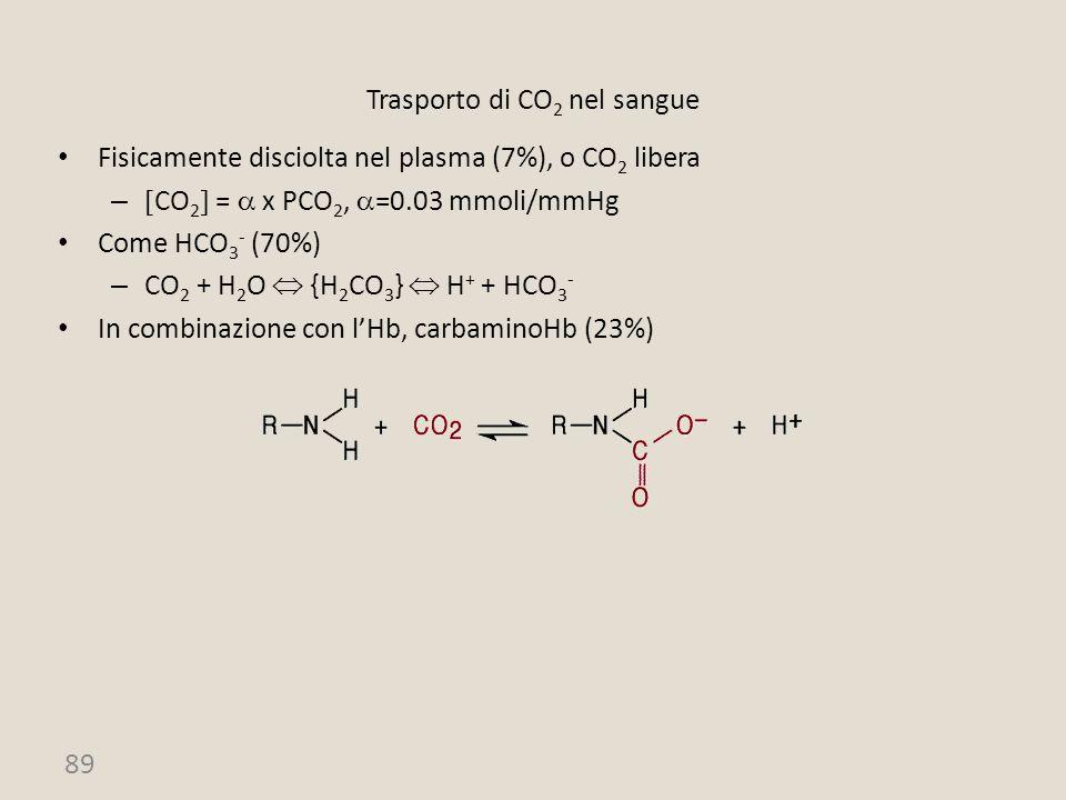 Trasporto di CO2 nel sangue