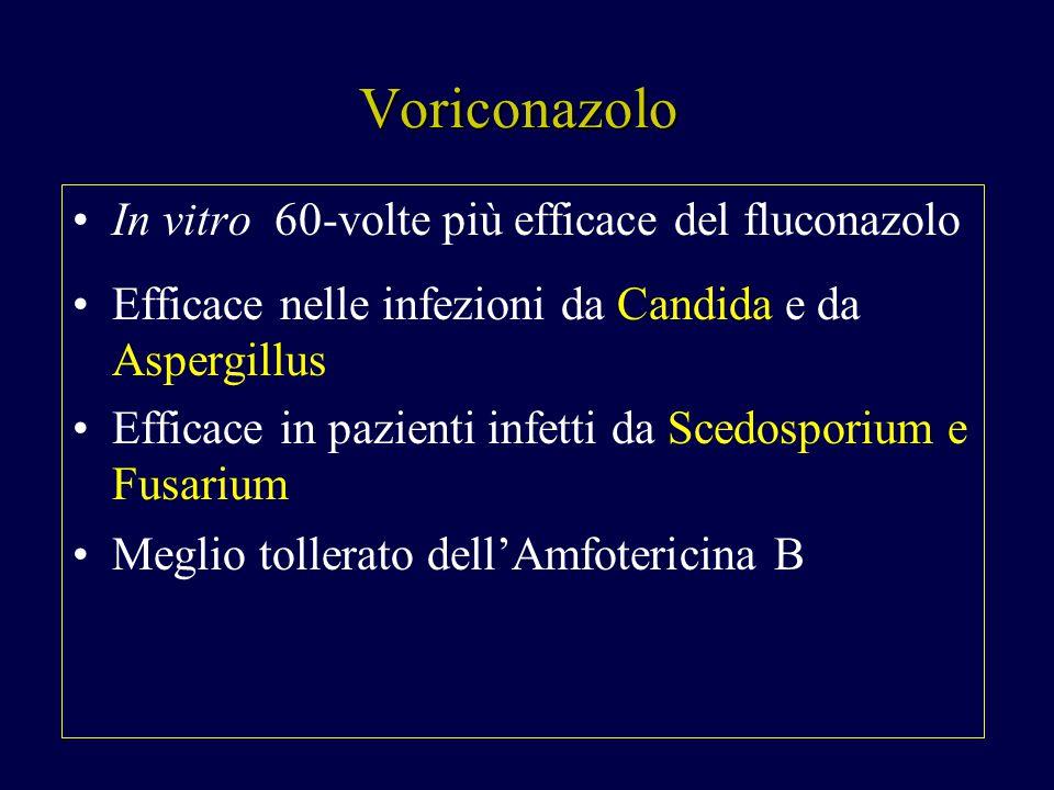 Voriconazolo In vitro 60-volte più efficace del fluconazolo