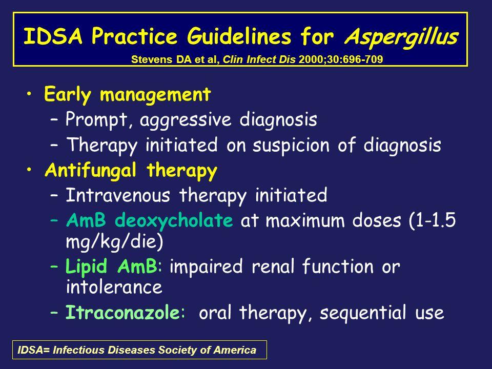 IDSA Practice Guidelines for Aspergillus