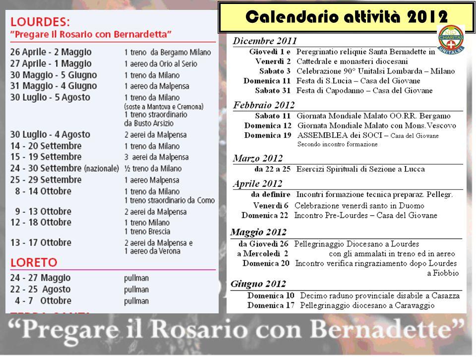 Calendario attività 2012