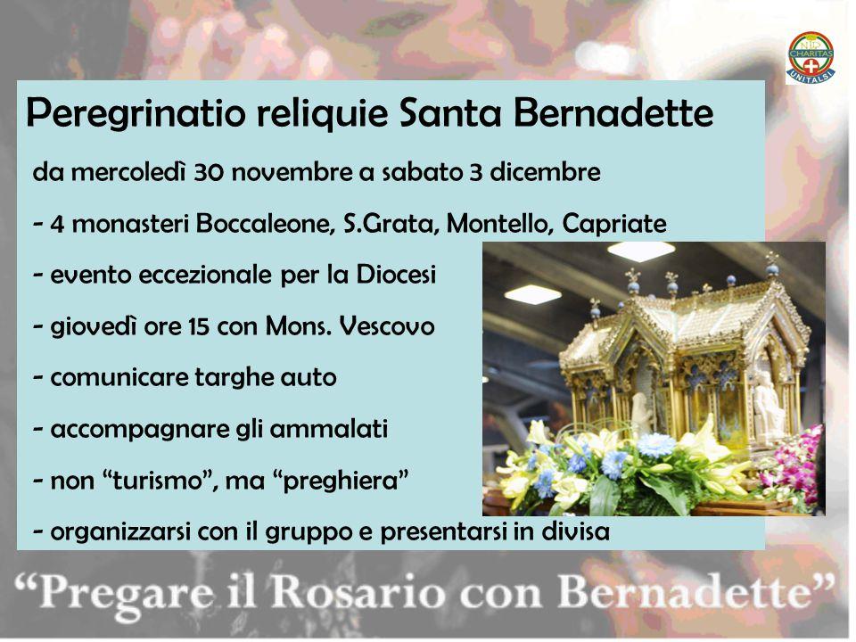 Peregrinatio reliquie Santa Bernadette