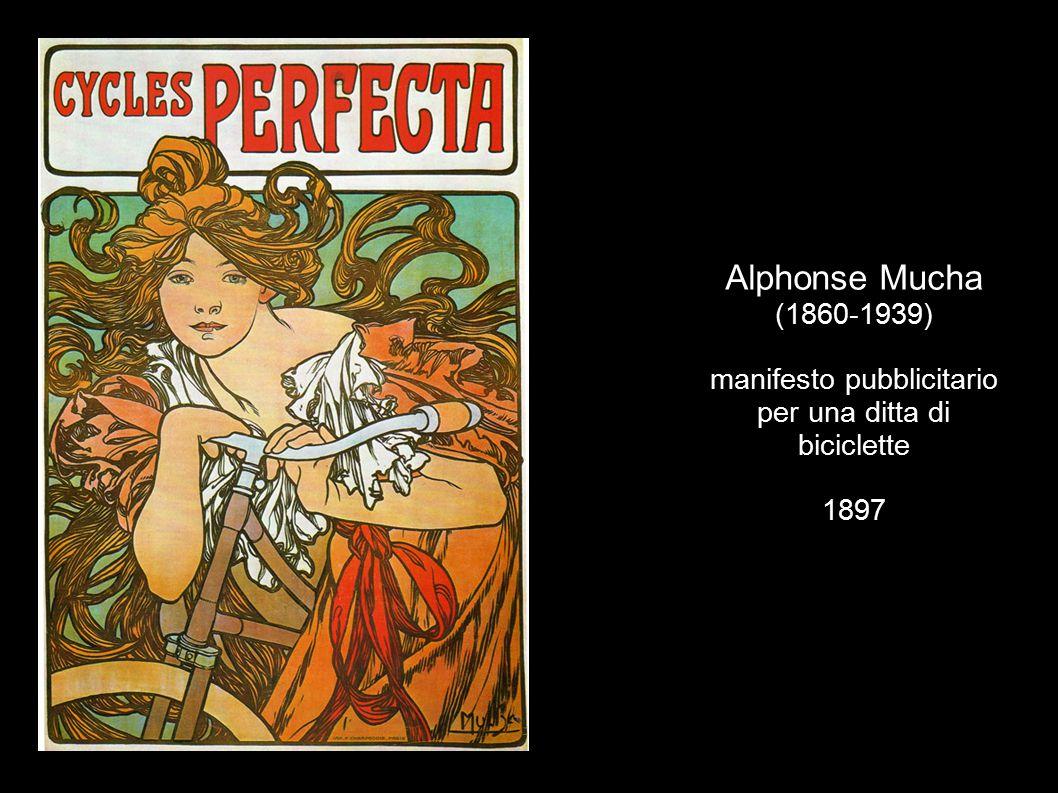 Alphonse Mucha (1860-1939) manifesto pubblicitario per una ditta di biciclette 1897