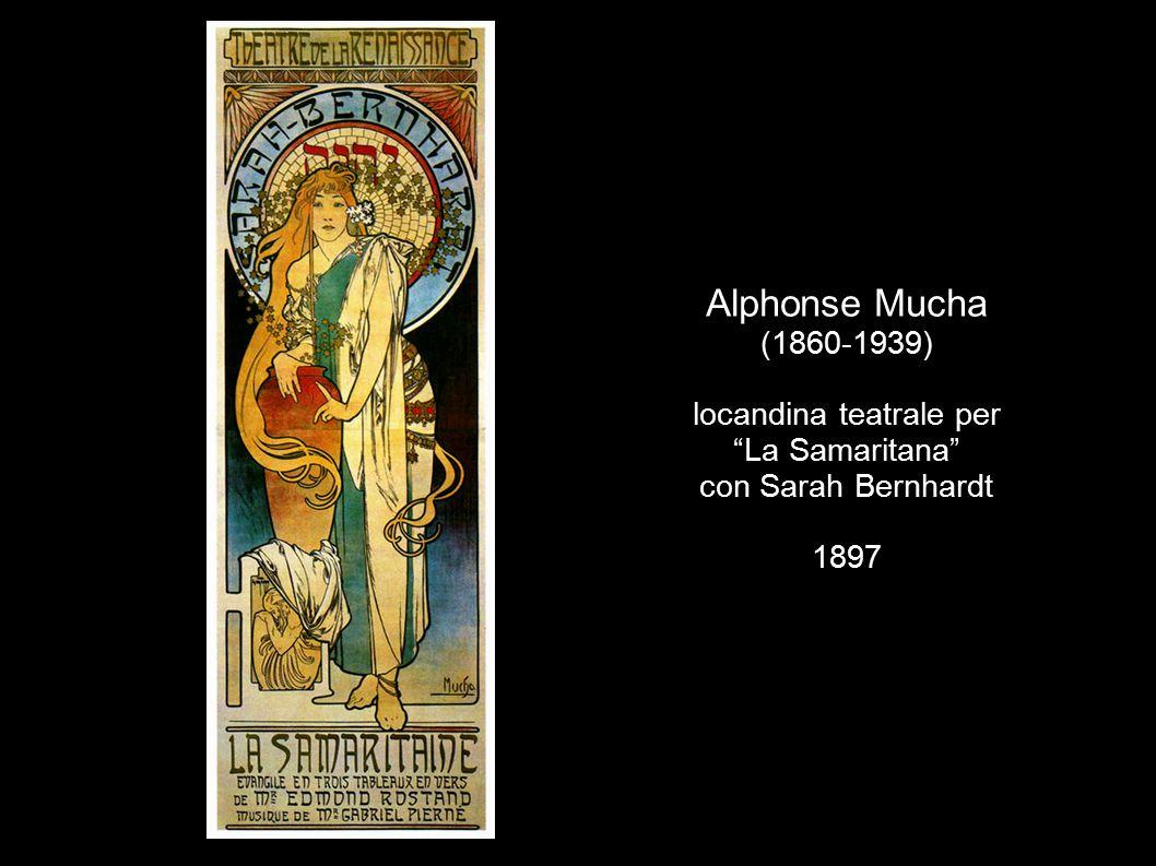 Alphonse Mucha (1860-1939) locandina teatrale per La Samaritana con Sarah Bernhardt 1897
