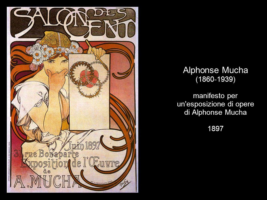 Alphonse Mucha (1860-1939) manifesto per un esposizione di opere di Alphonse Mucha 1897