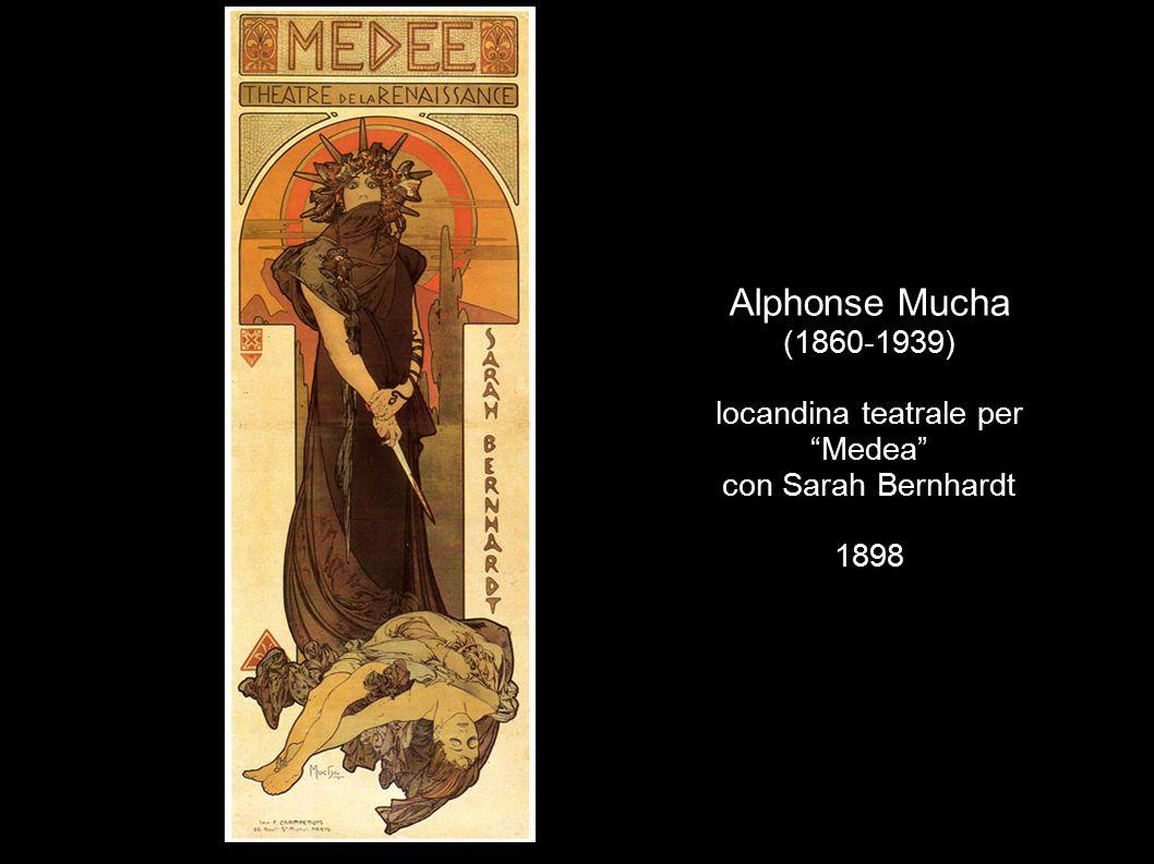 Alphonse Mucha (1860-1939) locandina teatrale per Medea con Sarah Bernhardt 1898