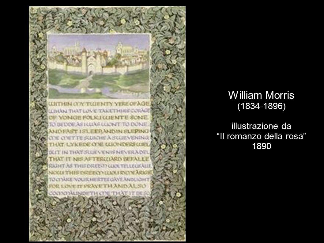 William Morris (1834-1896) illustrazione da Il romanzo della rosa 1890