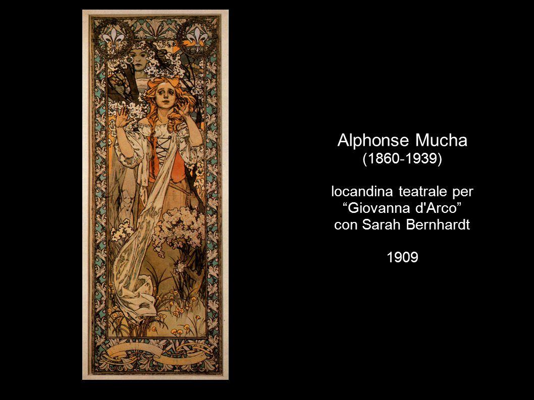 Alphonse Mucha (1860-1939) locandina teatrale per Giovanna d Arco con Sarah Bernhardt 1909