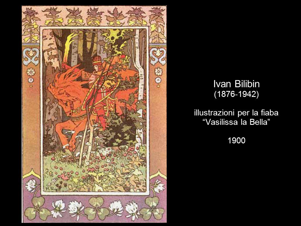 Ivan Bilibin (1876-1942) illustrazioni per la fiaba Vasilissa la Bella 1900