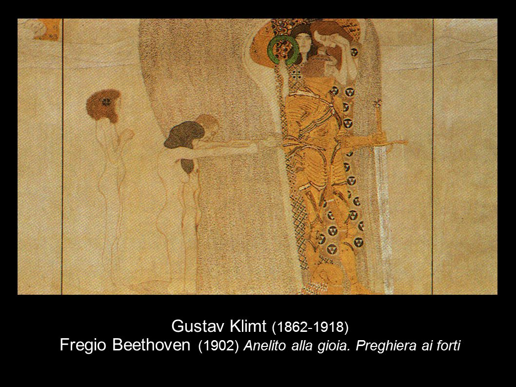 Gustav Klimt (1862-1918) Fregio Beethoven (1902) Anelito alla gioia