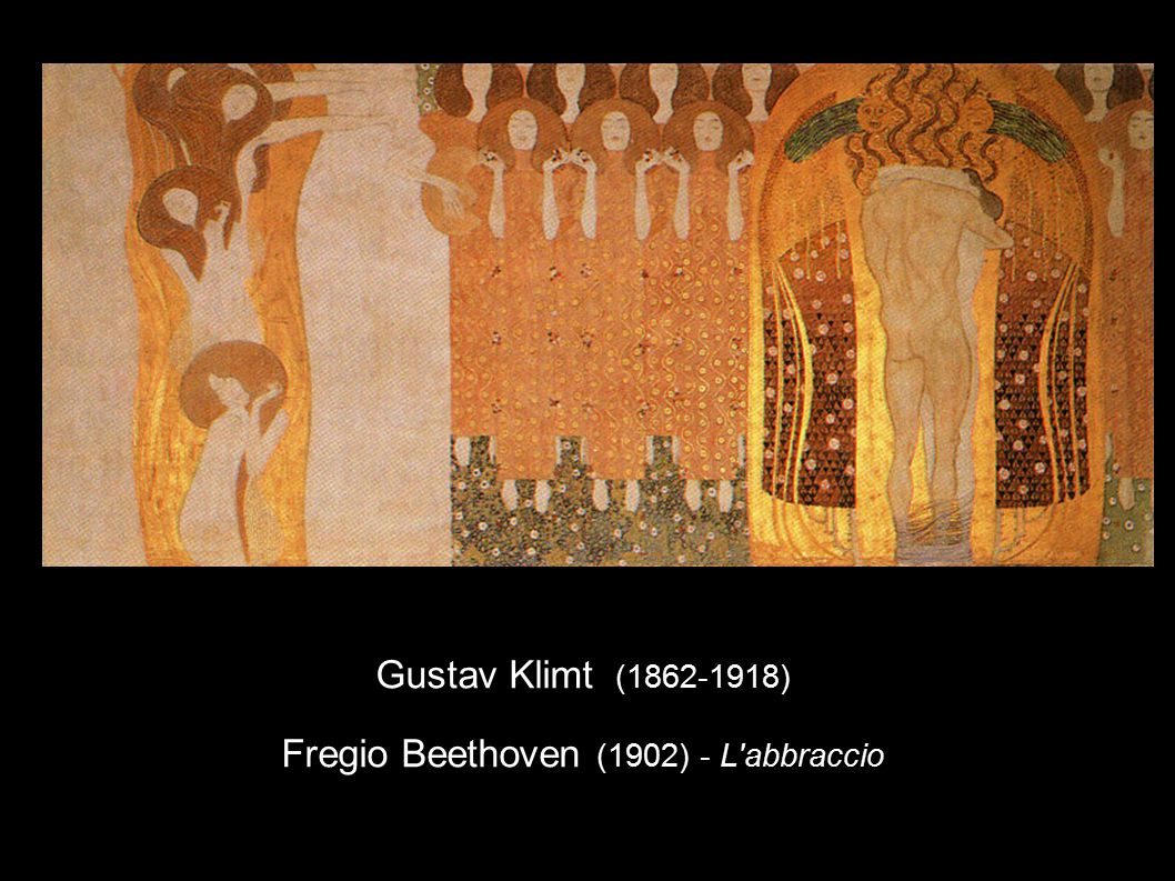 Gustav Klimt (1862-1918) Fregio Beethoven (1902) - L abbraccio
