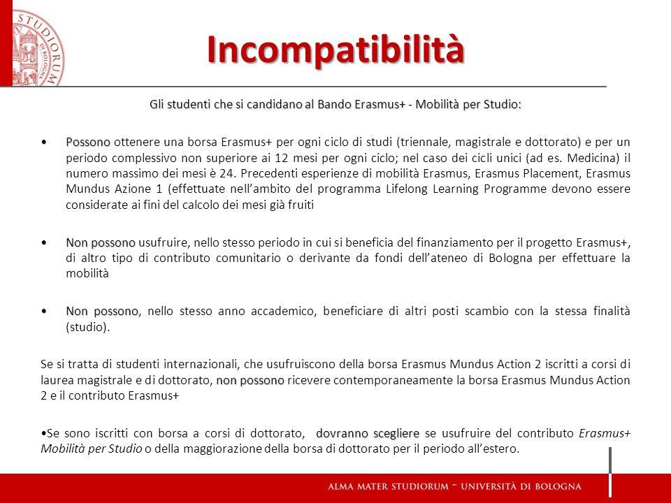 Gli studenti che si candidano al Bando Erasmus+ - Mobilità per Studio: