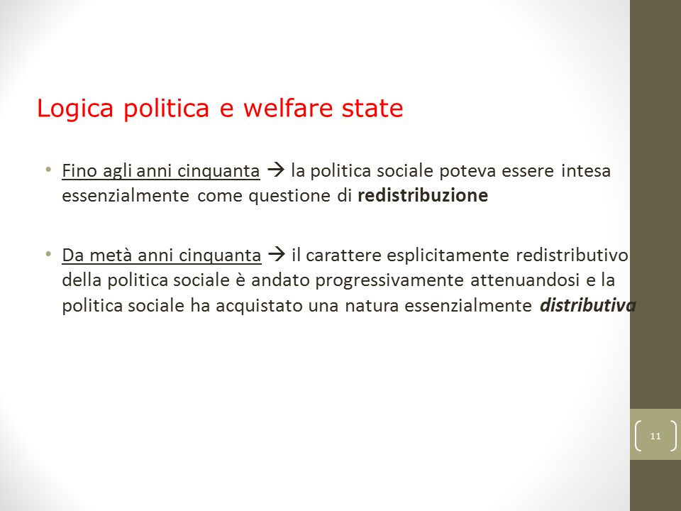 Logica politica e welfare state