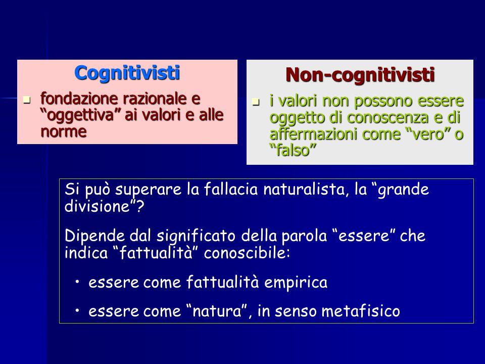 Cognitivisti Non-cognitivisti