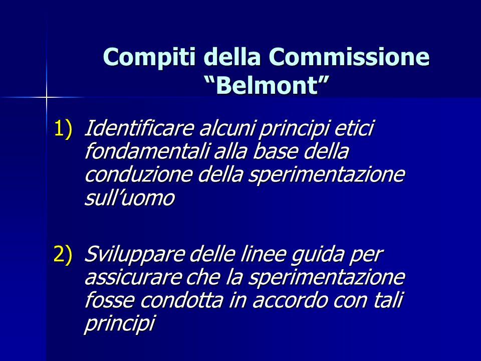 Compiti della Commissione Belmont