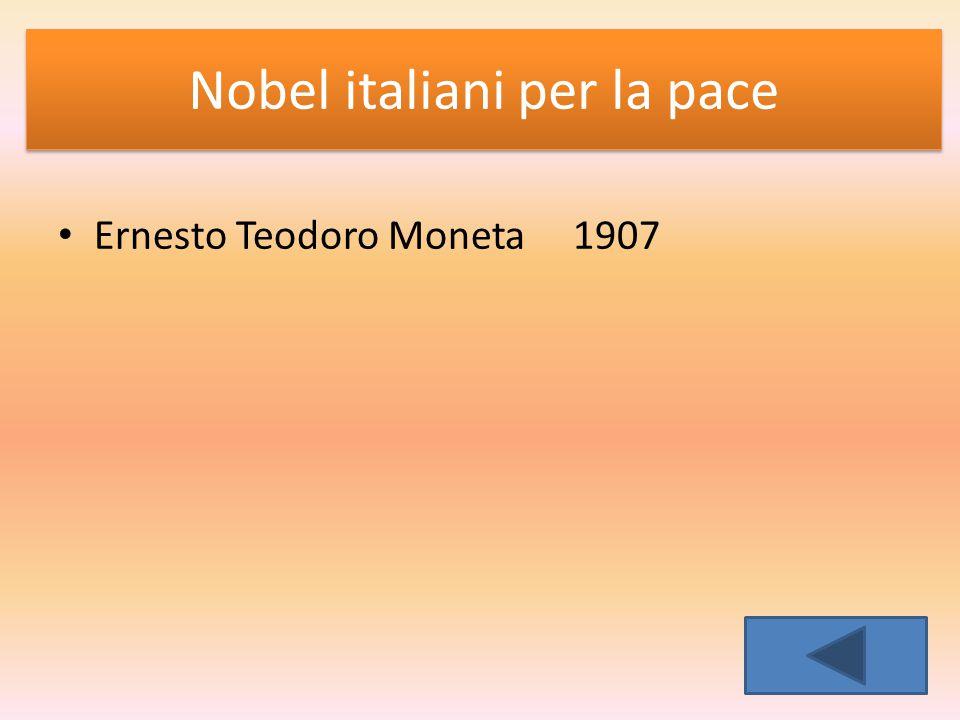 Nobel italiani per la pace