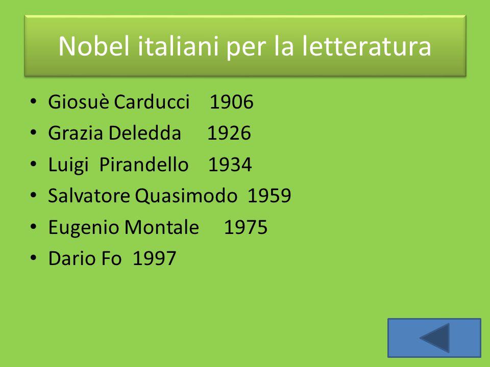 Nobel italiani per la letteratura