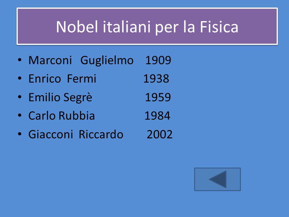 Nobel italiani per la Fisica