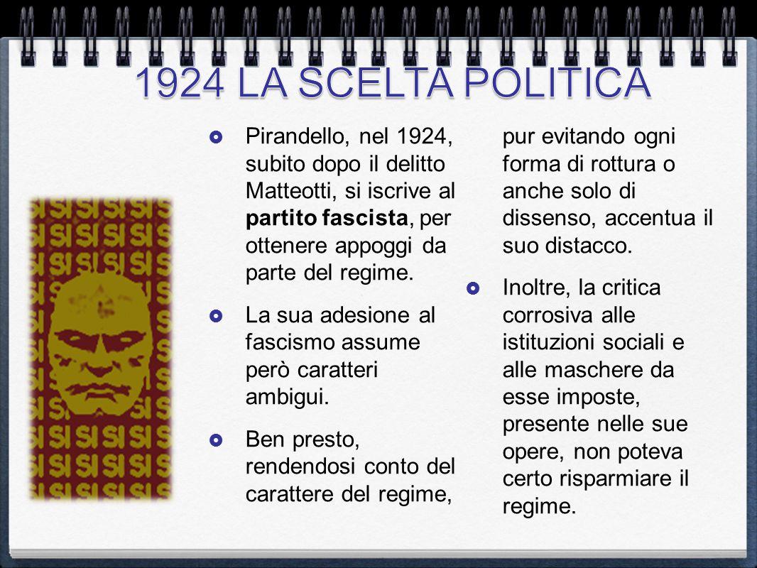 1924 LA SCELTA POLITICA