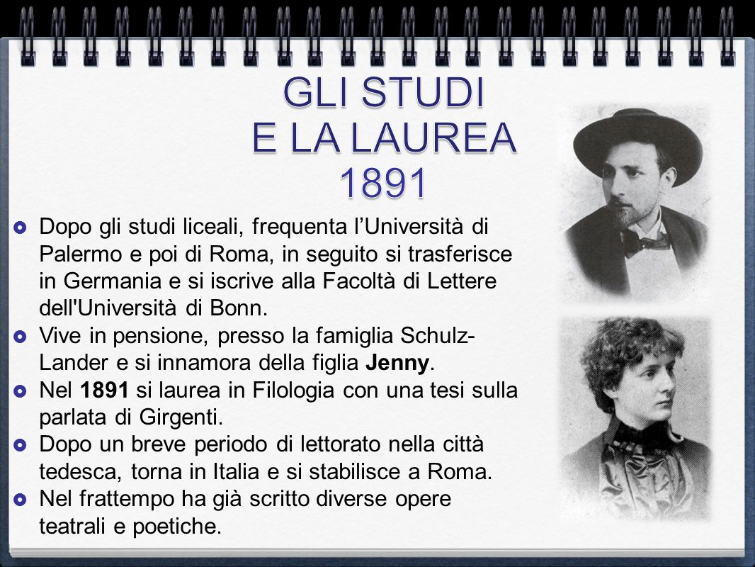 GLI STUDI E LA LAUREA 1891