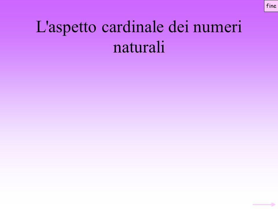 L aspetto cardinale dei numeri naturali