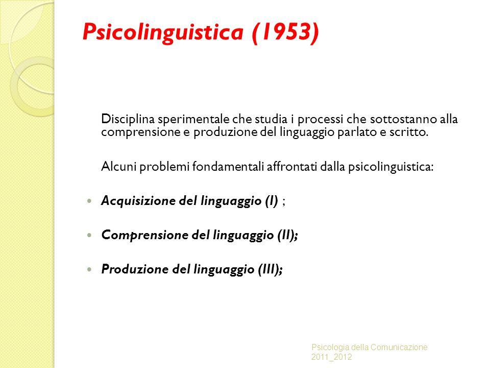 Psicolinguistica (1953)