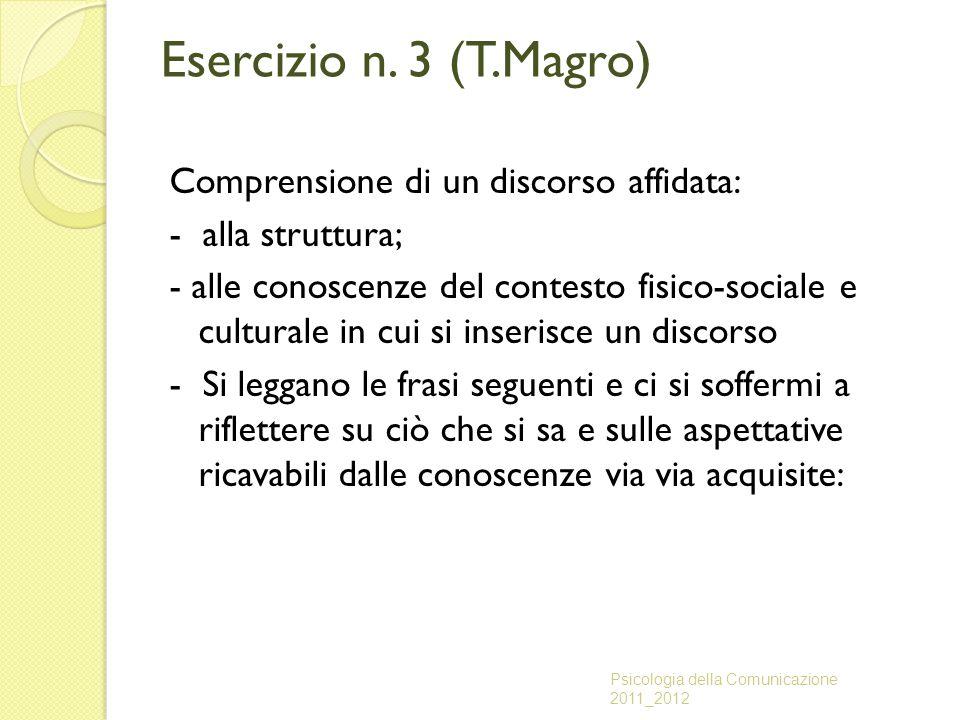 Esercizio n. 3 (T.Magro)