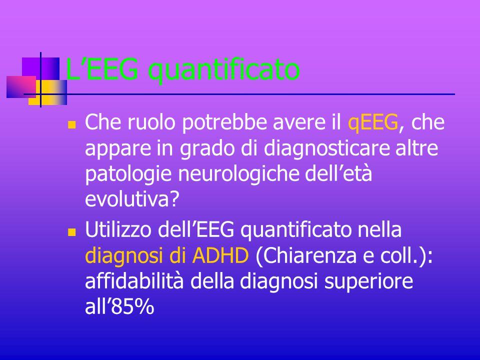 L'EEG quantificato Che ruolo potrebbe avere il qEEG, che appare in grado di diagnosticare altre patologie neurologiche dell'età evolutiva