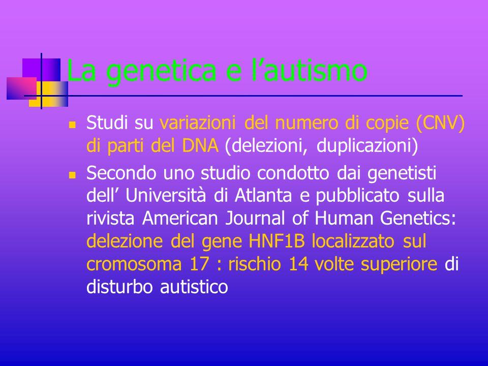 La genetica e l'autismo