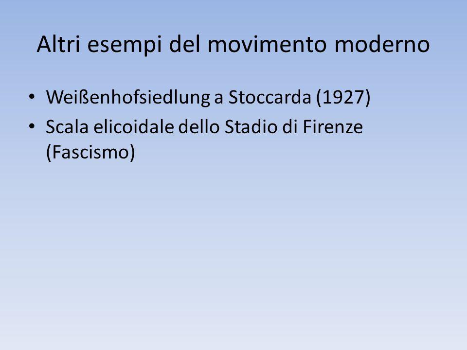 Altri esempi del movimento moderno