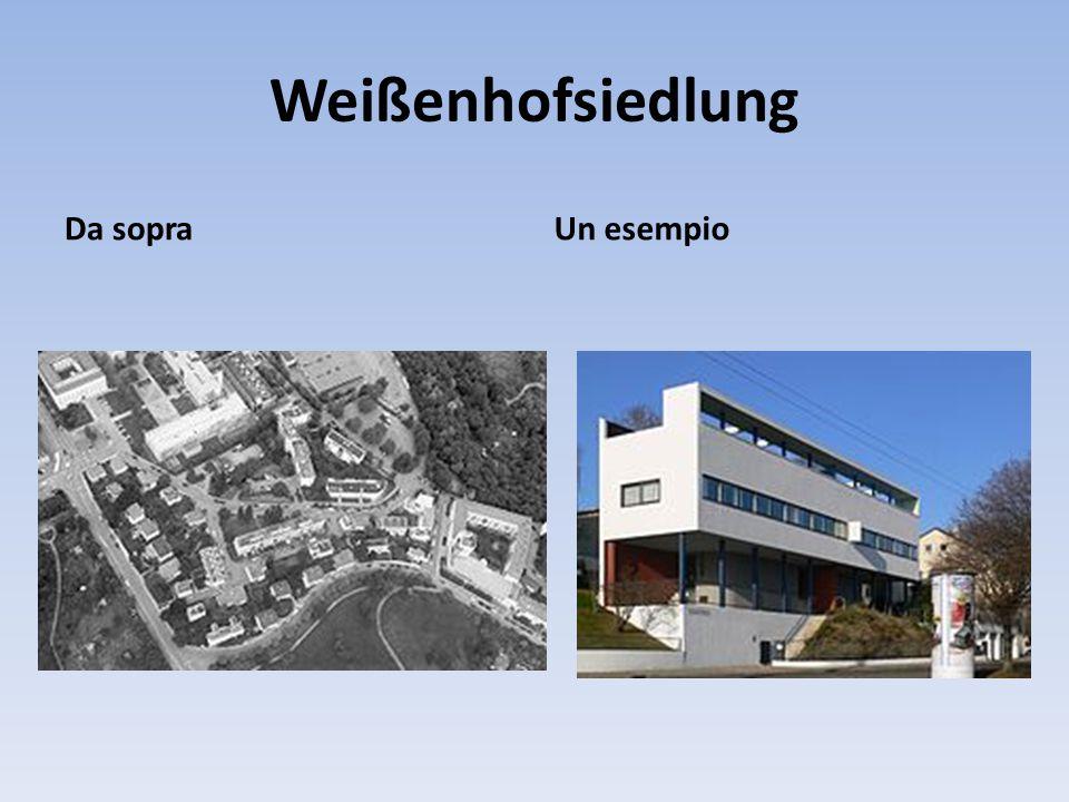 Weißenhofsiedlung Da sopra Un esempio