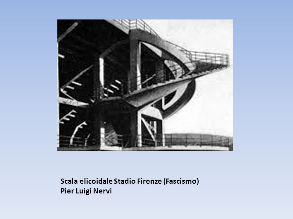 Scala elicoidale Stadio Firenze (Fascismo) Pier Luigi Nervi
