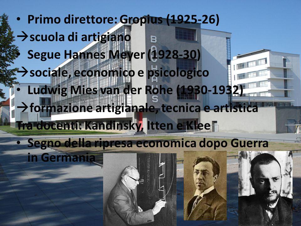 Primo direttore: Gropius (1925-26)