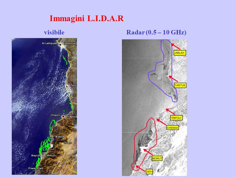Immagini L.I.D.A.R visibile Radar (0.5 – 10 GHz)