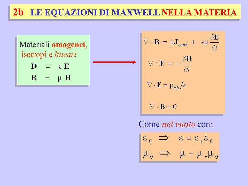 2b LE EQUAZIONI DI MAXWELL NELLA MATERIA