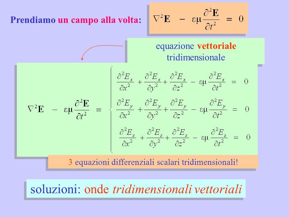 soluzioni: onde tridimensionali vettoriali