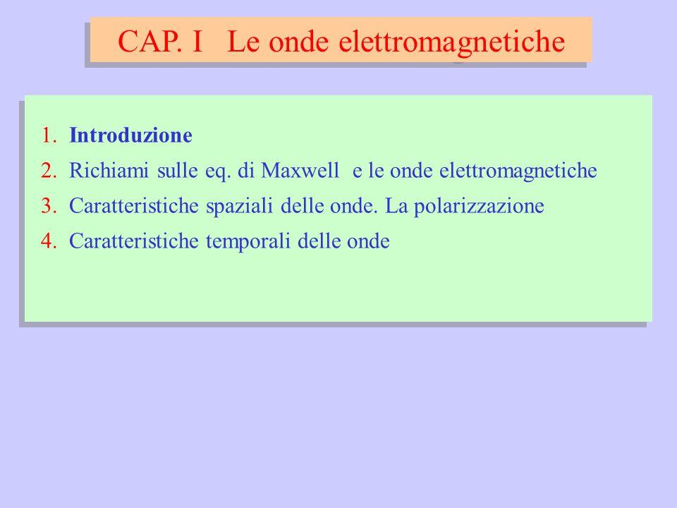 CAP. I Le onde elettromagnetiche