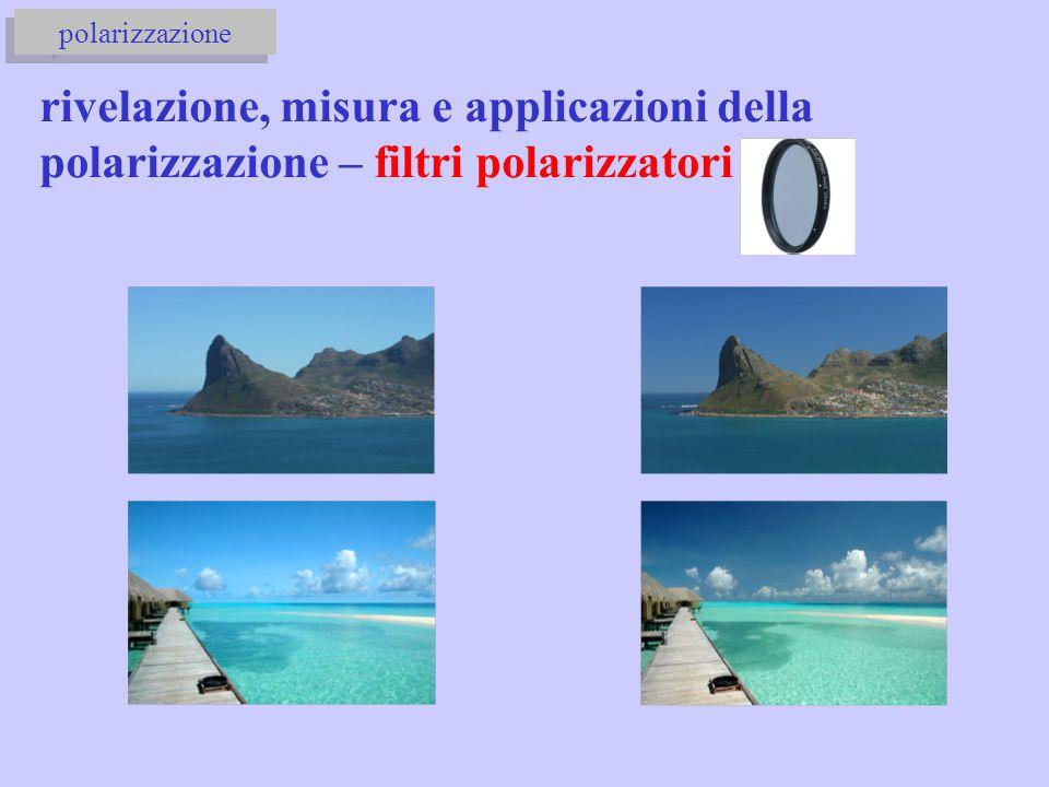 polarizzazione rivelazione, misura e applicazioni della polarizzazione – filtri polarizzatori
