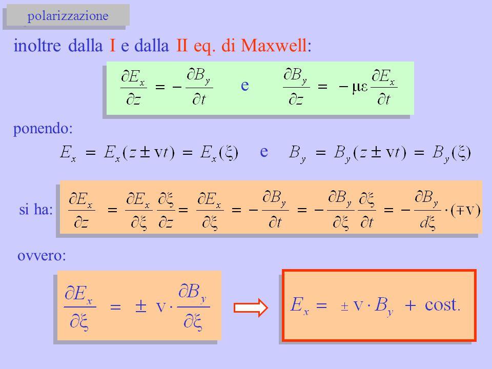 inoltre dalla I e dalla II eq. di Maxwell: