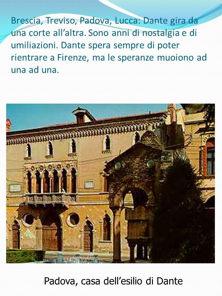Brescia, Treviso, Padova, Lucca: Dante gira da una corte all'altra