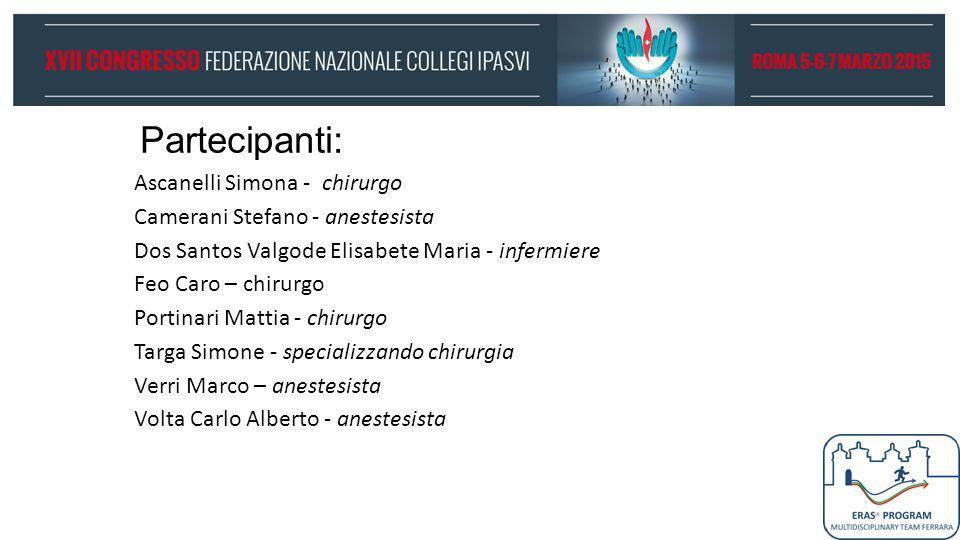 Partecipanti: Ascanelli Simona - chirurgo