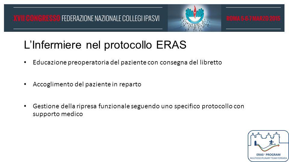 L'Infermiere nel protocollo ERAS