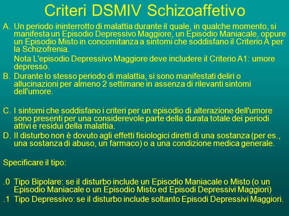Criteri DSMIV Schizoaffetivo