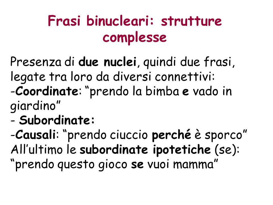 Frasi binucleari: strutture complesse