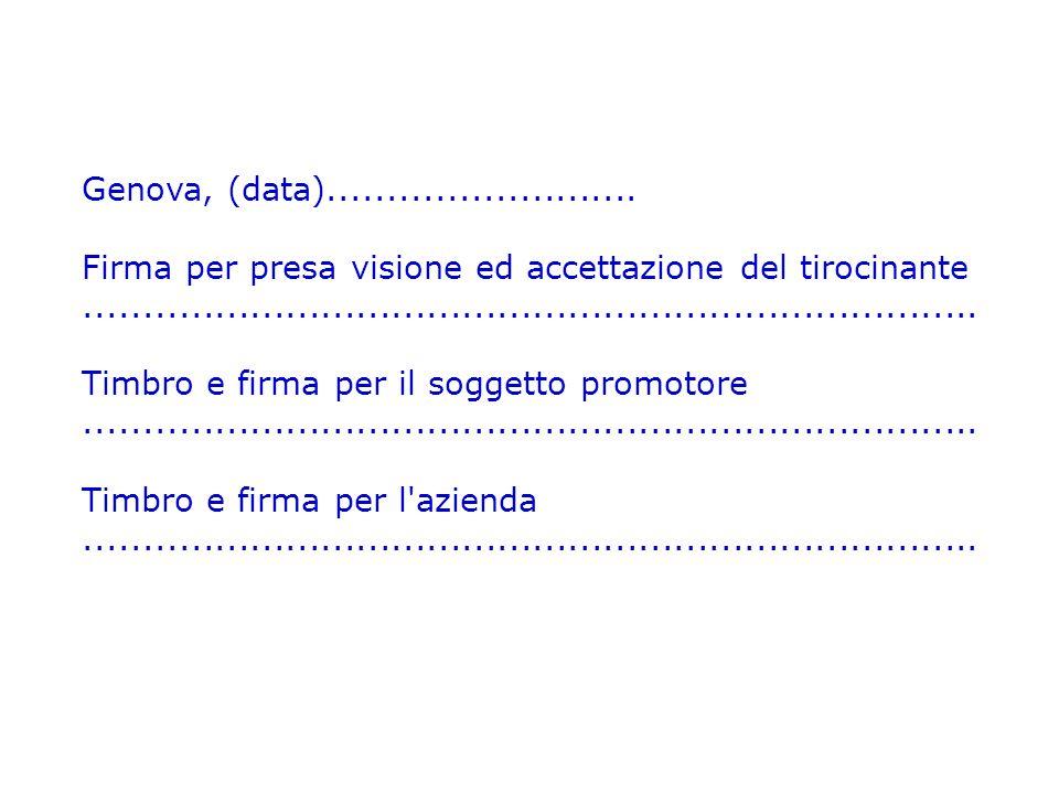 Genova, (data)..........................