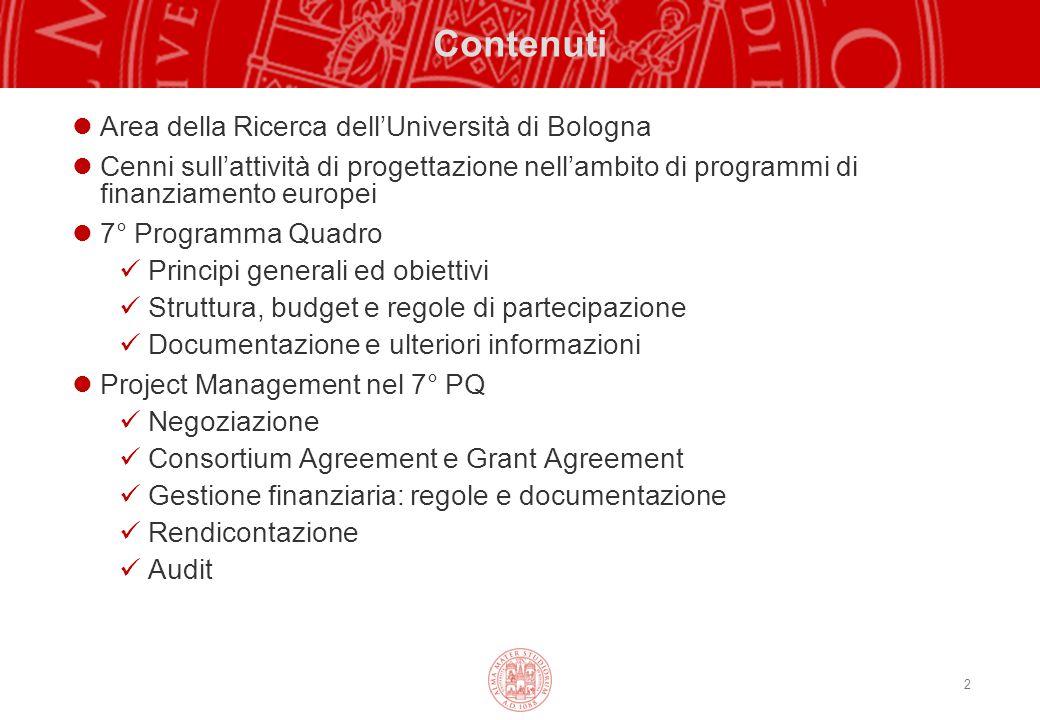 Contenuti Area della Ricerca dell'Università di Bologna