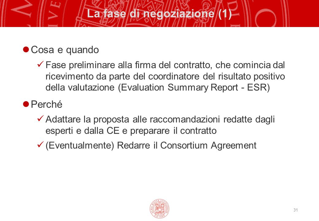 La fase di negoziazione (1)