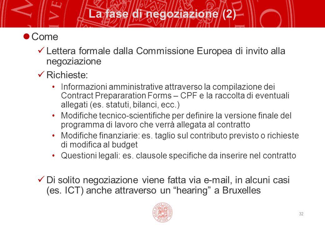 La fase di negoziazione (2)