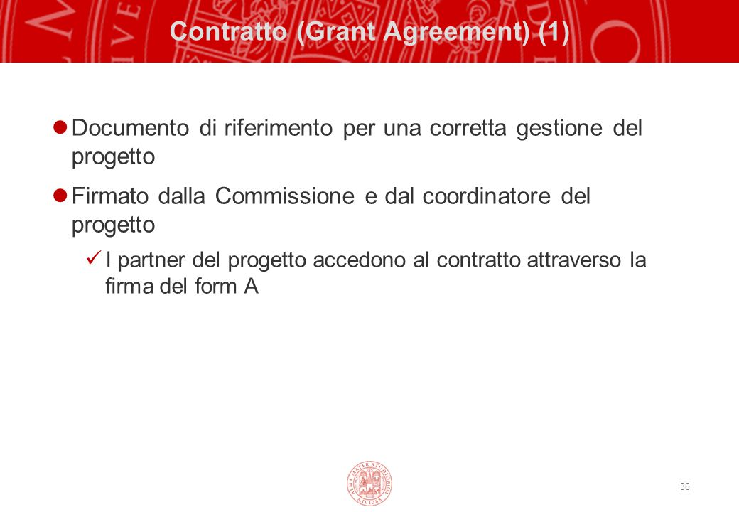 Contratto (Grant Agreement) (1)