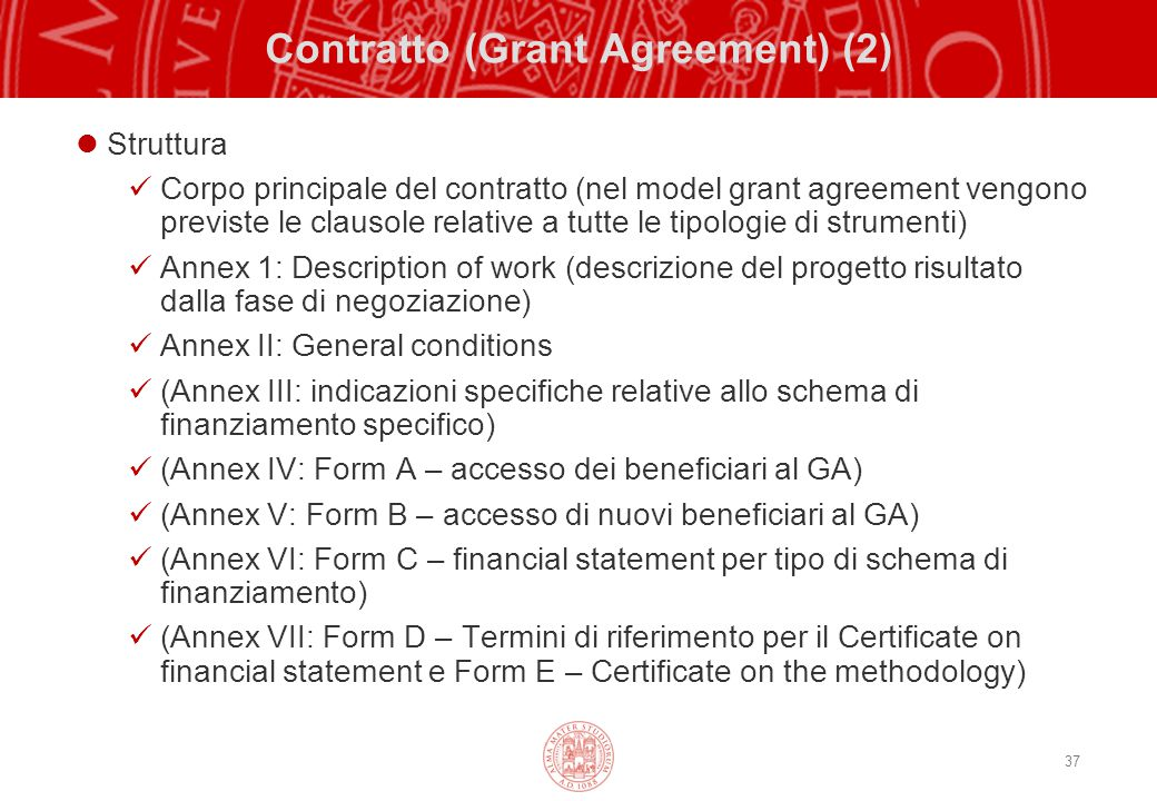 Contratto (Grant Agreement) (2)